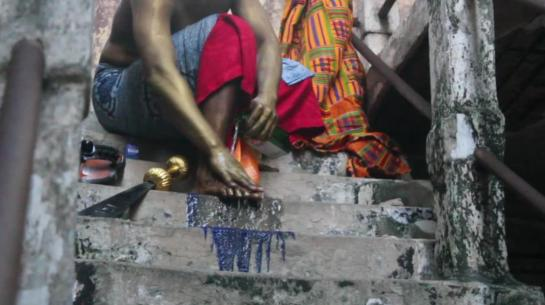 Film still from Video (The Cleansing) by Bernard Akoi-Jackson_2012