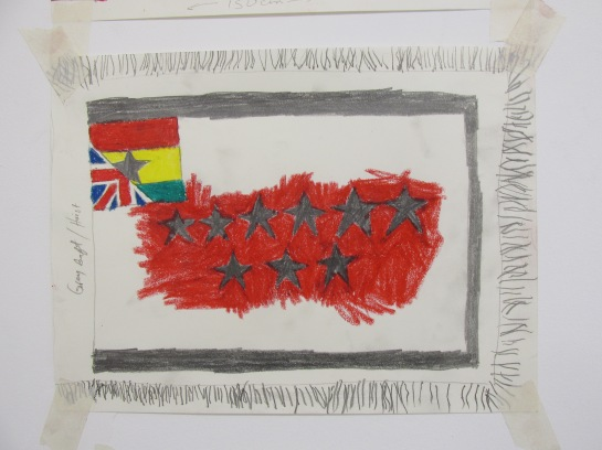 Kwasi Ohene-Ayeh, Notion: 06 03, 2015. Drawing, oil pastel, and pencil on paper. 21 x 29.7 cm