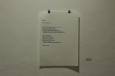Aisha Nelson, Wɔba… , 2013, text on cartridge paper, 42 cm x 59.4 cm, installation view, photo by Elolo Bosokah