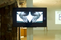 Kelvin Haizel, Bangbang33, 2016, 20 minutes, video still, 60' flatscreen monitor, installation view, photo by Elolo Bosokah