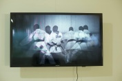 Kwabena Afriyie Poku, Jazz of Katas, 2018, four-screen video installation, 4 minutes each, detail view, photo by Elolo Bosokah