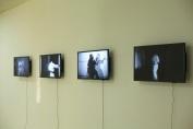 Kwabena Afriyie Poku, Jazz of Katas, 2018, four-screen video installation, 4 minutes each, installation view, photo by Elolo Bosokah