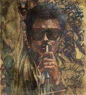"Kofi Dawson. ""The Revolution"" (1982). Oil on canvas. 43 x 49 cm. Image © SCCA Tamale and the artist."