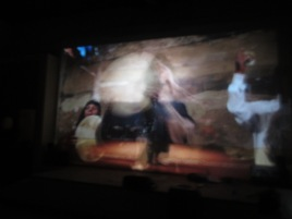 Theo Eshetu, Zar Possession, 2018, Video 9min04sec, video still, Musée National du Mali (Cinémateque), photo by author.